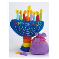 Hanoukia avec bougies  en peluche