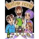 Grand Feuille Cartonée Theme Shabbat a Colorié